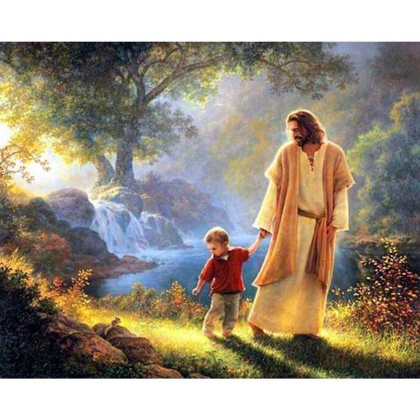 jesusandchildren, DIAMOND, Christian, Home Decor