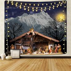 Mountain, Decor, christmastapestry, Christian