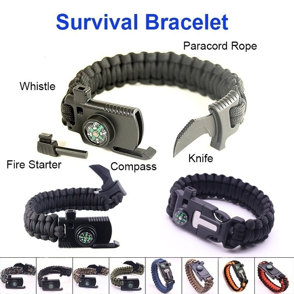 Outdoor, rope bracelet, Wristbands, camping