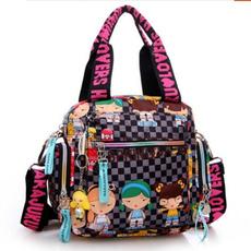waterproof bag, cartoonbag, Nylon, Handbags