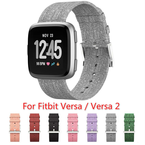 fitbitversaband, wovenwatchband, Fitness, Metal
