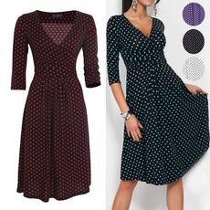 Swing dress, Fashion, Polkas, long sleeve dress