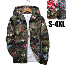 butterfly, Casual Jackets, hooded, Coat