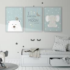 Decor, Wall Art, Elephant, Love
