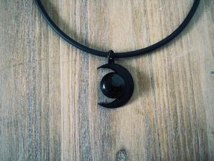 agatenecklace, moongoddessjewelry, charmpendantnecklace, chockernecklaceforgirl