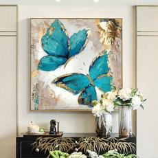 butterfly, Blues, art, Home & Living