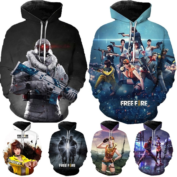 New Popular Games Free Fire 3d Print Hoodies Free Fire Cosplay 3d Sweater Unisex Pullovers Cool Hooded Autumn And Winter Sweatshirts Hip Hop Clothes Wish
