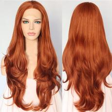 wig, orangeredwig, fashion wig, Hair Extensions & Wigs