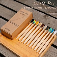 rainbow, woodenhandle, dentalcare, softbrush