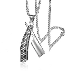 Steel, mens necklaces, punk necklace, Jewelry