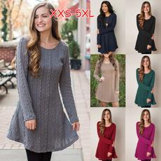 purecolordre, Women, Plus Size, winterdressesforwomen