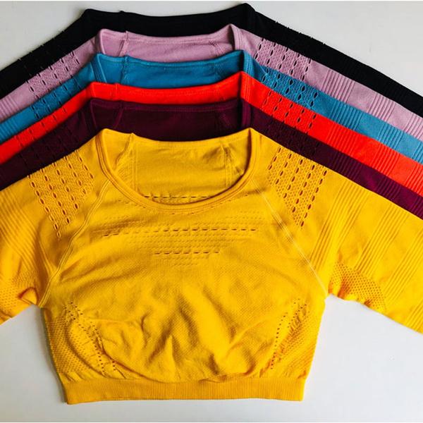 womensportssuit, seamlessyogaset, Shirt, Sleeve