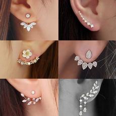 Flowers, Jewelry, Stud Earring, Crystal Earrings