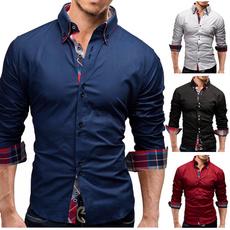 Turn-down Collar, work dress, Fashion, Cotton Shirt