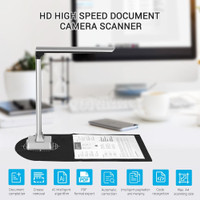 Web Conferencing Office Education Document Camera for Teachers Real-time Projection Recording Scanner Portable USB Multi-Language OCR Recognizable Book Image A4 Format for Distance Learning
