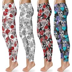 sugar skull clothing, Leggings, trousers, Yoga