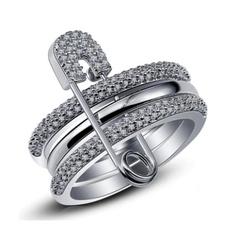 cute, Unique, crystal ring, wedding ring