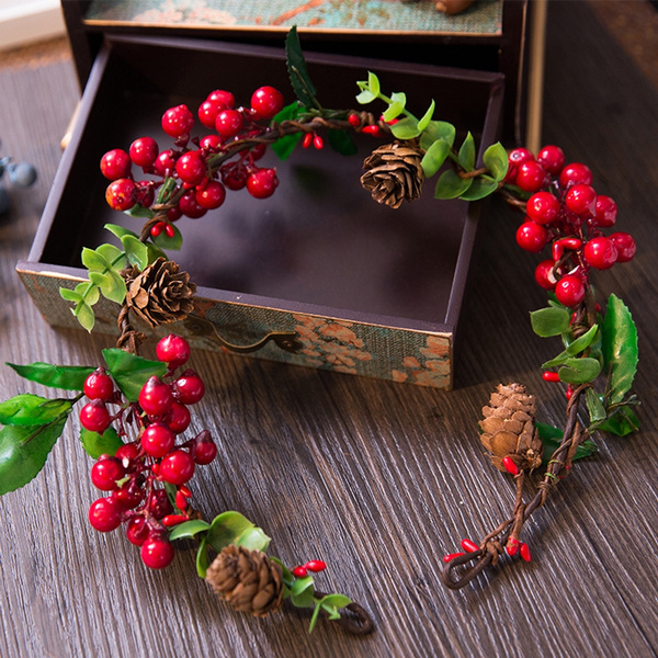 Plants, hollyberry, artificialwreath, crown