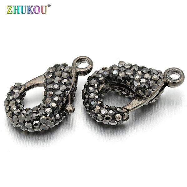 Brass, Cubic Zirconia, gunmetal, Jewelry