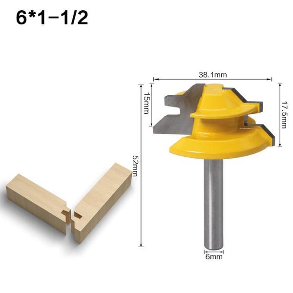 woodworkingcutter, routerbit, woodcuttermiter, 45degreemiterslotrouterbit