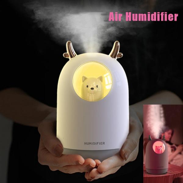 cute, essentialoilhumidifier, led, Romantic