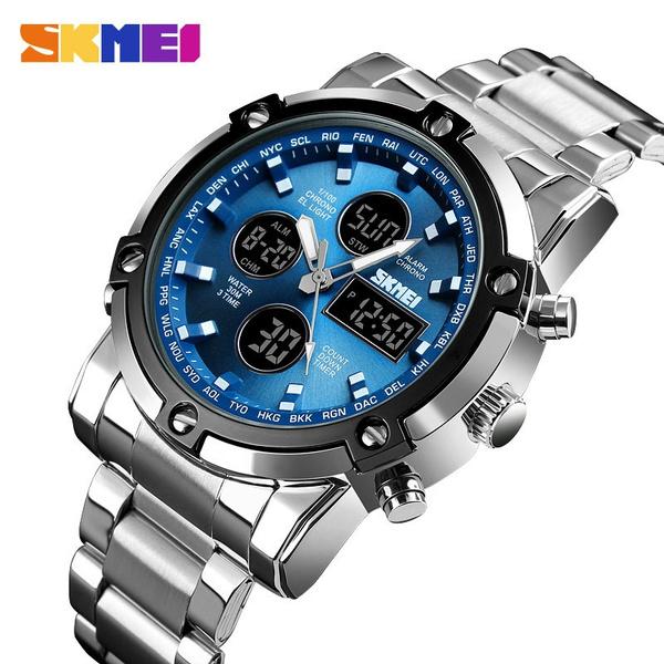 Steel, metalstrapwatch, quartz, chronographwatch