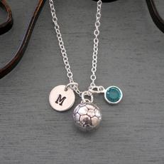 birthstonenecklace, Personalized necklace, Jewelry, sportsjewelry