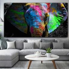 Wall Art, Elephant, elephantwatercolor, Posters