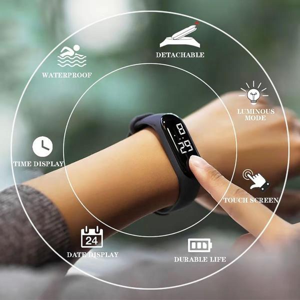 Fashion, led, Electronic, Watch