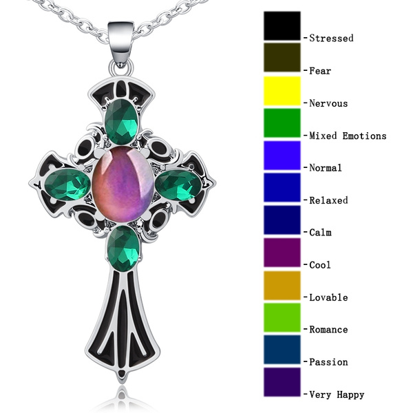 peacock, Cross necklace, Cross Pendant, Cross
