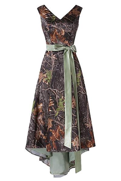 camouflagebridalgown, Shorts, ladies dress, Evening Dress