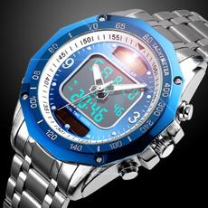 Steel, Stainless, analogdigitalwatch, armywatch