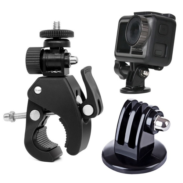 Xiaoyi and Other Action Cameras Durable GuiPing Fixed Metal Motorcycle Holder Mount for GoPro HERO8 Black//Max // HERO7 Color : Blue DJI OSMO Action