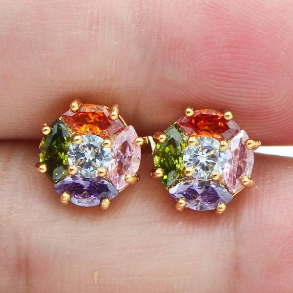 Gemstone Earrings, topazearring, Stud Earring, wedding earrings