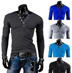 Men, Slim Fit, Polo Shirts, Sleeve