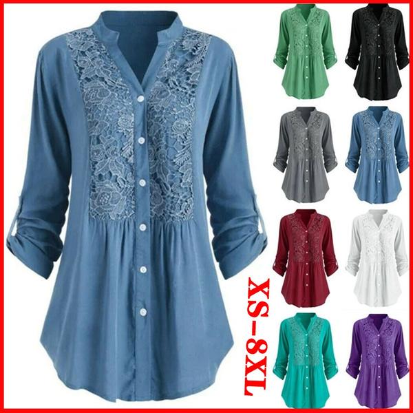 Splicing, Spring/Autumn, Plus Size, Cotton T Shirt