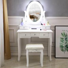 wooddesk, dressingtablestool, makeupdesk, Belleza