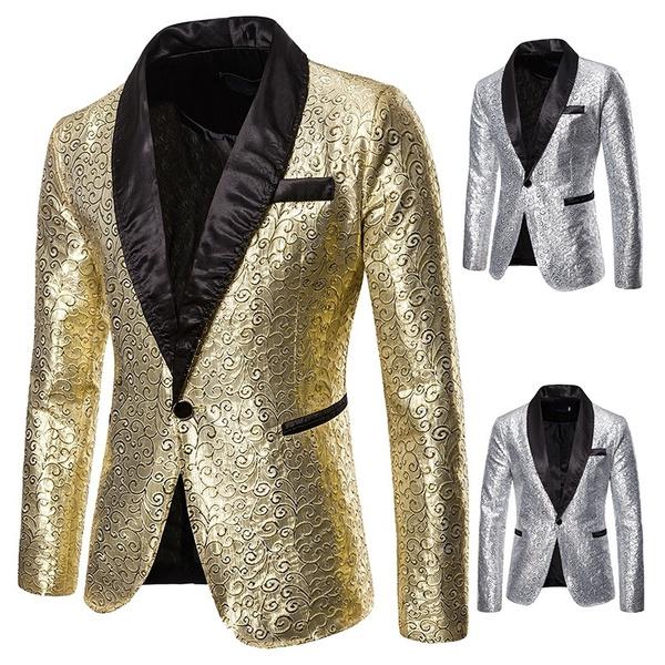 slimfitsuitcoat, Fashion, gold, Men