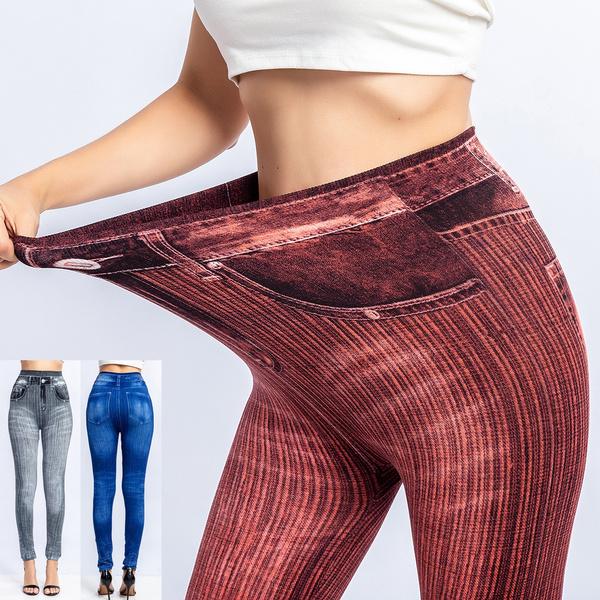 Leggings, slim, high waist, Elastic