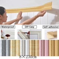 PVC wall stickers, Bathroom, borderskicker, floralwallborder