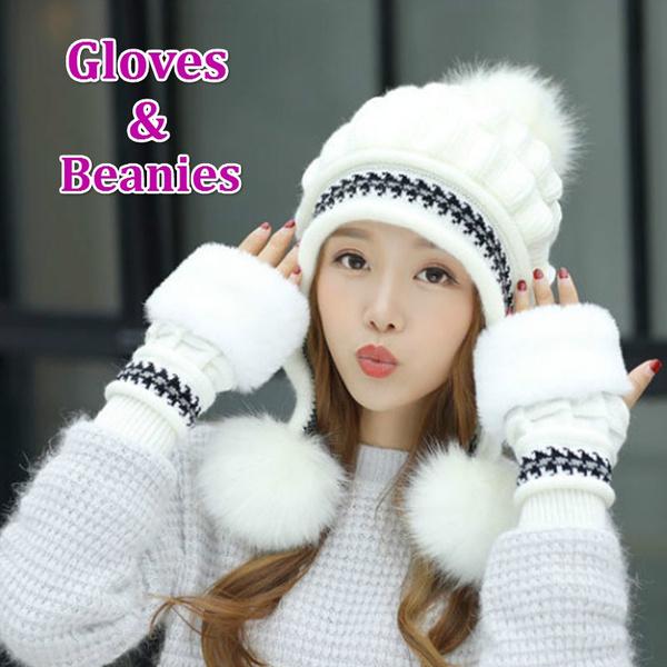 womenwinterbeanie, knitted, womenwarmglove, Fashion