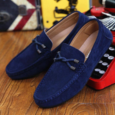 casual shoes, Flats, mensleisureshoe, leather