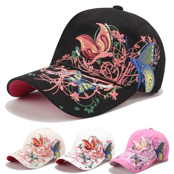 Baseball Hat, butterfly, Fashion, Baseball