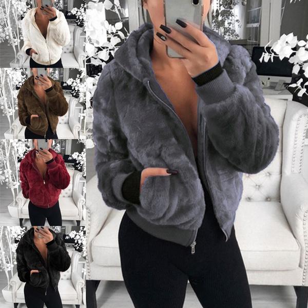 Casual Jackets, Fashion, Long Sleeve, fluffy