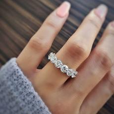 Sterling, Wedding, DIAMOND, wedding ring