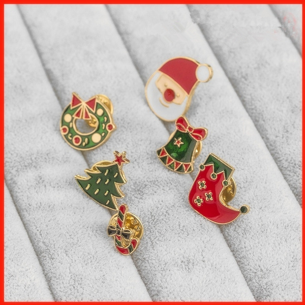 cute, enamelpinset, Christmas, Pins
