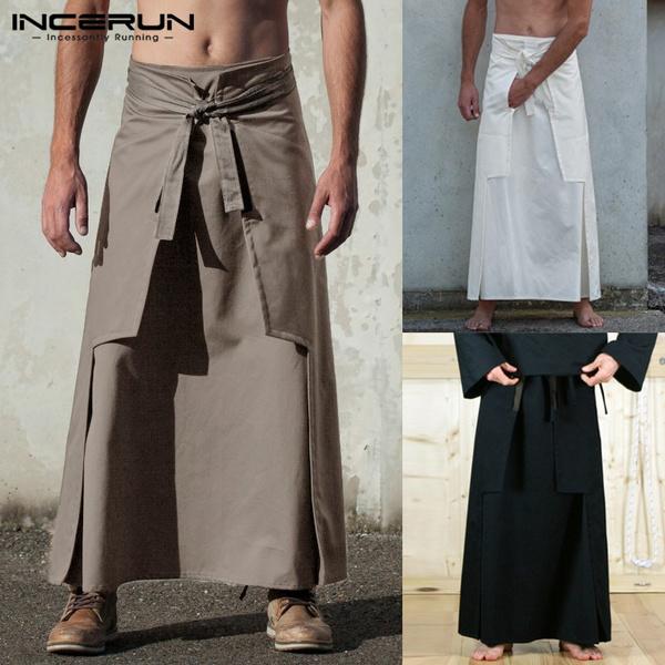 long skirt, skirtmen, martialartsclothe, laceupskirt