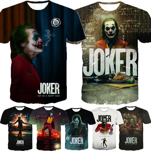 jokershirt, summer t-shirts, Shirt, Summer