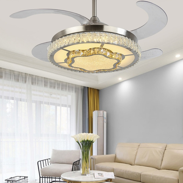 Modern Ceiling Fan Light Bedroom Living Room Restaurant Light Fan Chandelier With Remote Control Wish