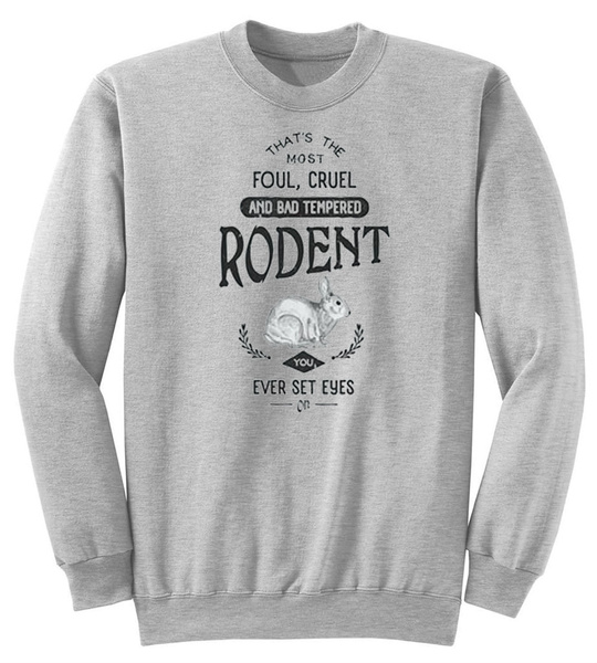 Crewneck Sweatshirt, grail, montypythonandtheholygrail, rabbit